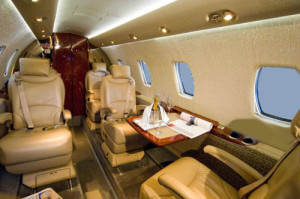 Citation XLS private jet Interior