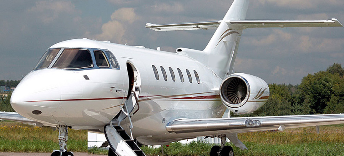 Hawker 800XP Charter airplane