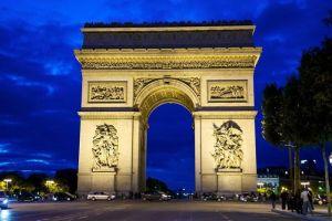 Visit Arc de Triomphe via charter jet